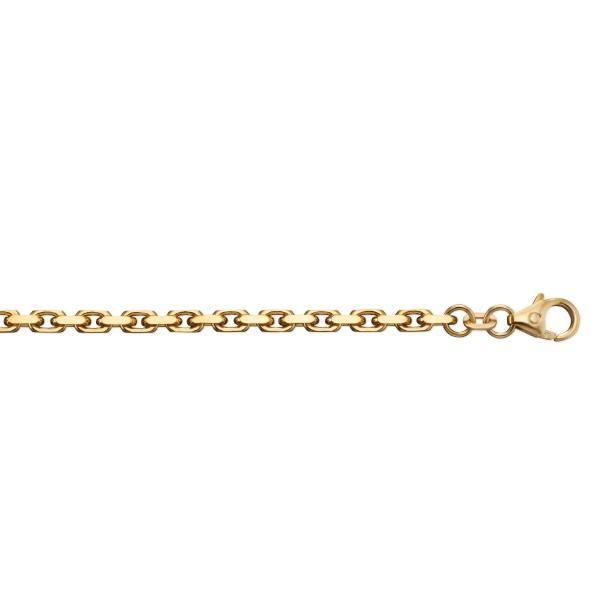 Anker diamantiert 2,50 mm 585/- Gelbgold Armband