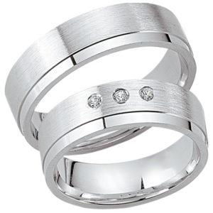 Schwarz - Trauringe - Silber925-045 - Partnerring