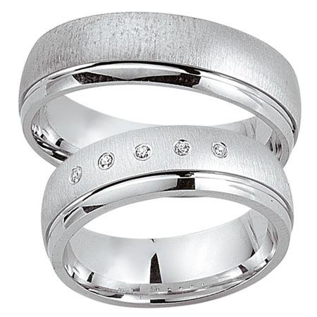 Schwarz - Trauringe - Silber925-048 - Partnerring