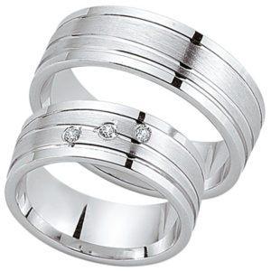 Schwarz - Trauringe - Silber925-088 - Partner