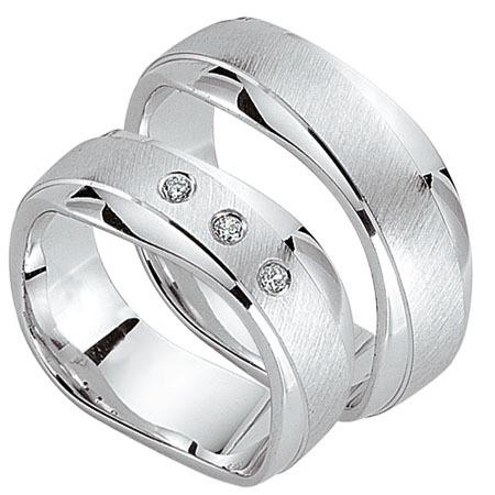 Schwarz - Trauringe - Silber925-107 - Partnerring