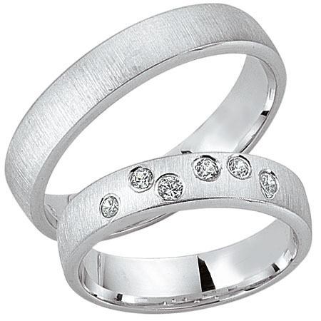 Schwarz - Trauringe - Silber925-113 - Partnerring
