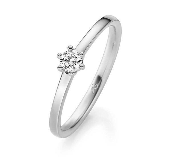 Verlobungsring mit Diamant - 29744/1.8 Gerstner