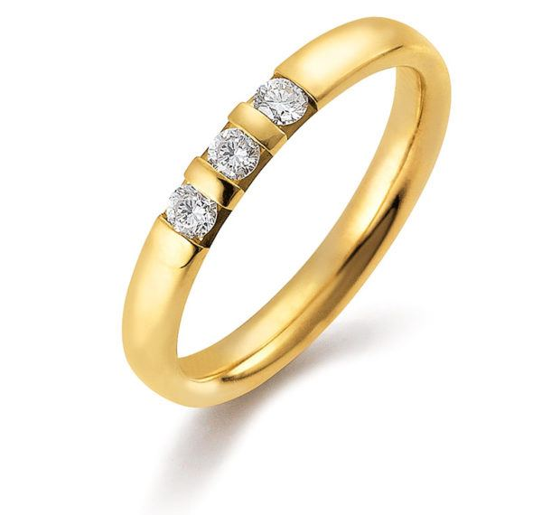 Gerstner - Basic Kollektion - Verlobungsring mit 3 Diamanten - 49002/3