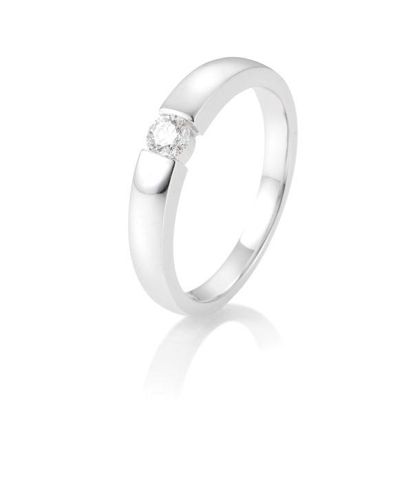 Breuning - Verlobungsring mit Diamant - Spannfassung - 0.15 Karat