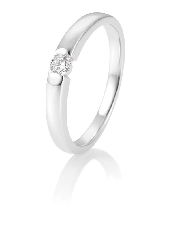 Breuning - Verlobungsring mit Diamant - Spannfassung - 0.10 Karat