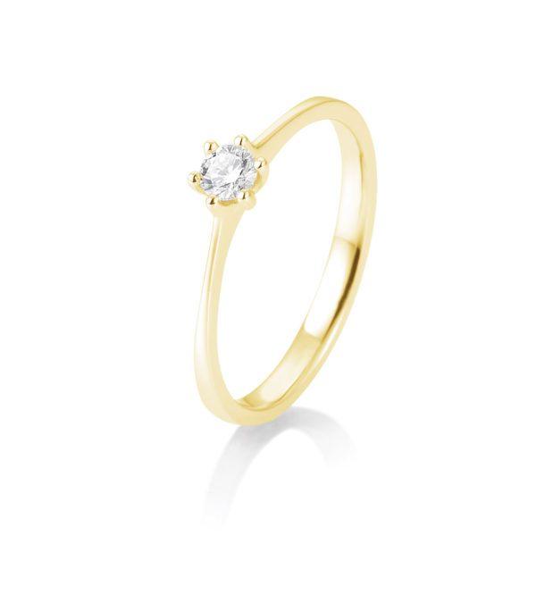 Breuning - Verlobungsring mit Diamant - 6er Krappenfassung - 0.15 Karat