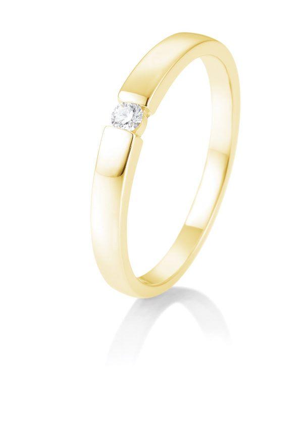 Breuning - Verlobungsring mit Diamant - Spannfassung - 0.05 Karat