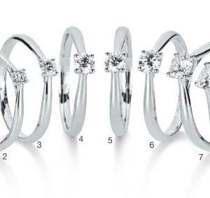 Verlobungsring mit Diamant - 4er-Krappenfassung - verjüngend-0