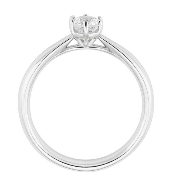 Verlobungsring mit Diamant - 6er-Krappenfassung - Klassisch - Cilor - BK006