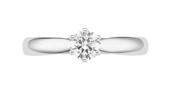 Verlobungsring mit Diamant - 6er-Krappenfassung - Klassisch-0