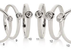 Verlobungsring mit Diamant - Zargenfassung - gleichbleibend-0
