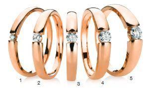 Verlobungsring mit Diamant - Spannfassung - gleichbleibend Rotgold-0
