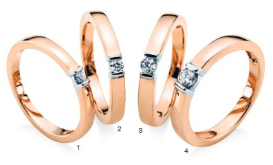 Verlobungsring mit Diamant - Bicolor - Rotgold und Weißgold-0