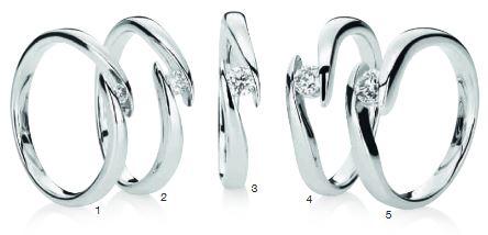 Verlobungsring mit Diamant - Spannfassung - geschwungen-0