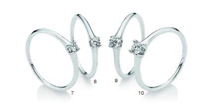 Verlobungsring mit Diamant - 4er-Krappenfassung -
