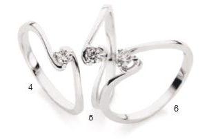 Verlobungsring mit Diamant - Krappenfassung - geschwungen-0
