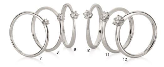 Verlobungsring mit Diamant - 6er-Krappenfassung - verjüngend-0
