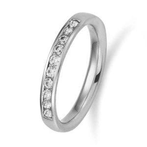 Verlobungsring mit Diamanten - Memoire - Gerstner - 29731/2.9 - Weißgold/Platin