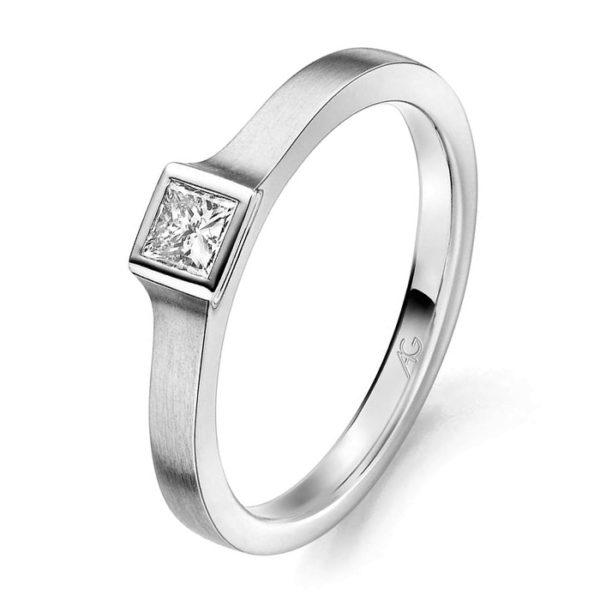Verlobungsring mit Diamant - Exklusiv - Gerstner - 29743/2.4