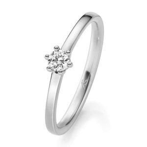 Verlobungsring mit Diamant - 6er-Krappenfassung - Gerstner - 29744/2.0