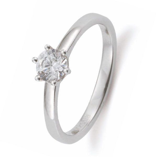 Verlobungsring mit Diamant - 6er-Krappenfassung - Gerstner - 29754/2.2