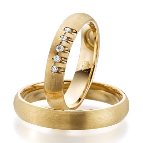Eheringe - Design - mit Diamanten - RU-1073-1-0