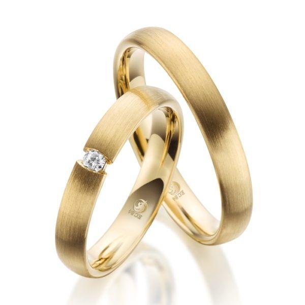 Eheringe - Design - mit Diamant - RU-1075-1-0