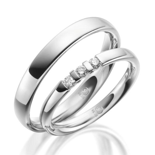Eheringe - Design - mit Diamanten - RU-1076-1-0