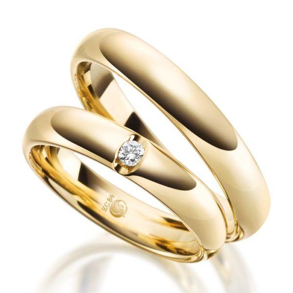Eheringe - Design - mit Diamant - RU-1077-1-0