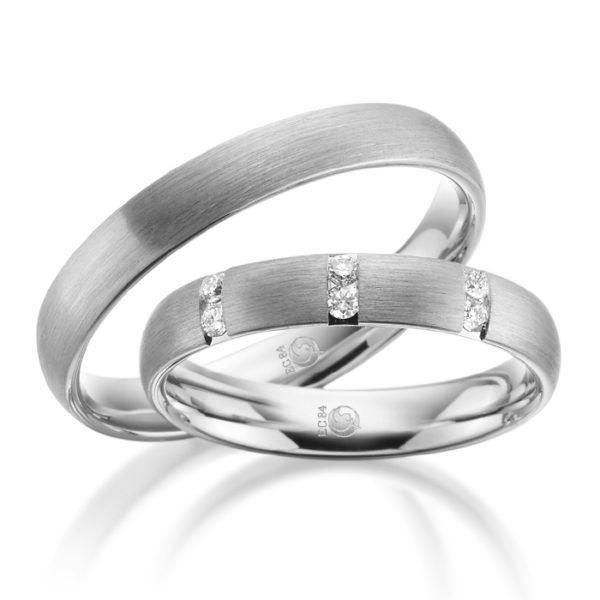 Eheringe - Design - mit Diamanten - RU-1079-1-0