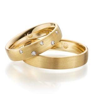 Eheringe - Design - mit Diamanten - RU-1080-1-0