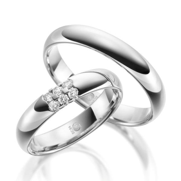 Eheringe - Design - mit Diamanten - RU-1081-1-0