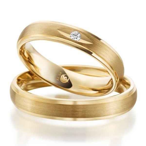 Eheringe - Design - mit Diamant - RU-1083-1-0