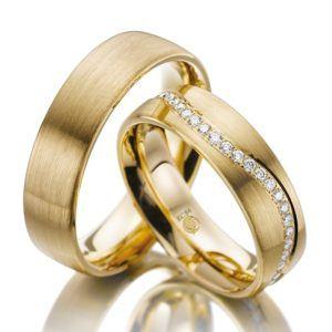 Eheringe - Design - mit Diamanten - RU-1007-1-0