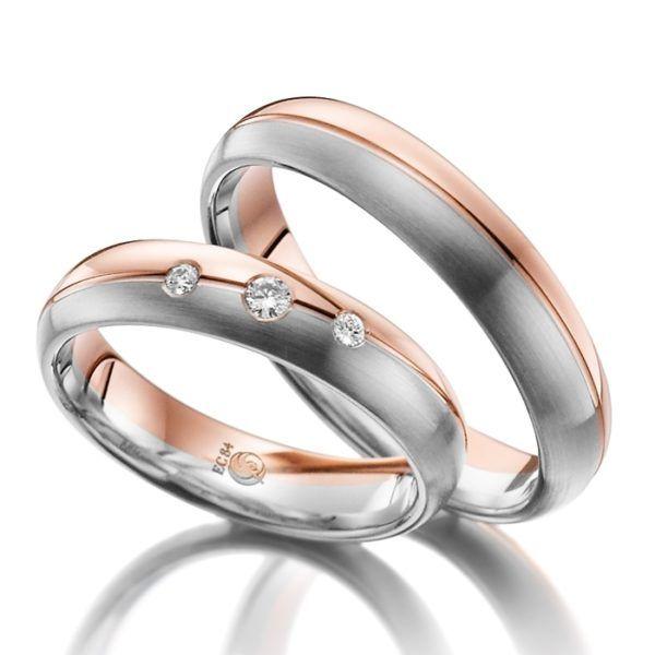 Eheringe - Design - mit Diamanten - RU-1011-1-0