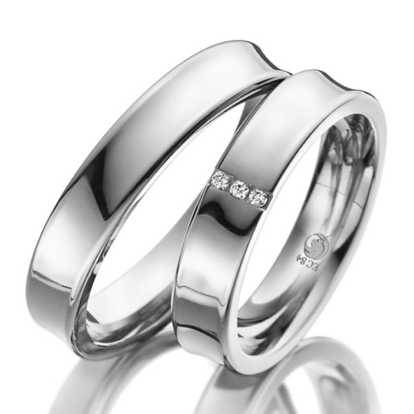 Eheringe - Design - mit Diamanten - RU-1019-1-0