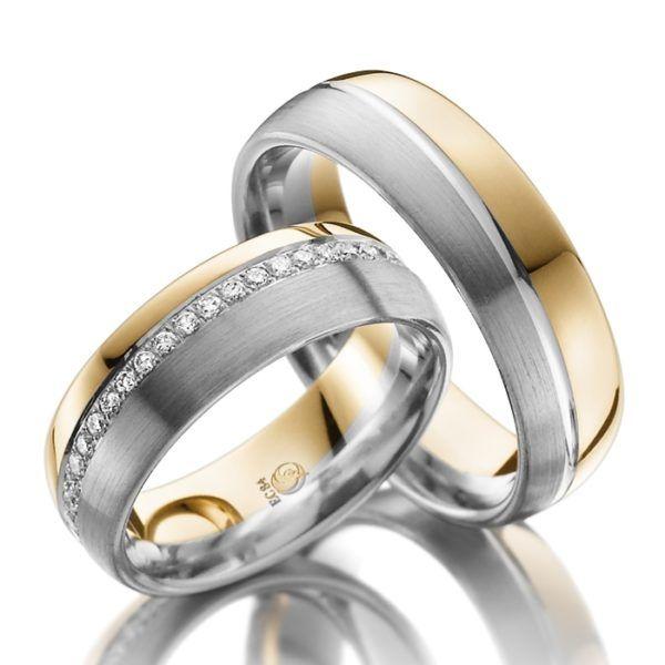 Eheringe - Design - mit Diamanten - RU-1027-1-0