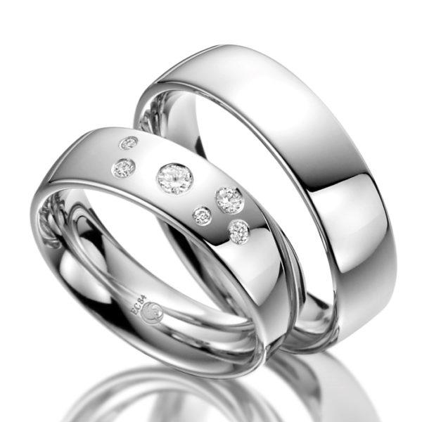 Eheringe - Design - mit Diamanten - RU-1032-1-0