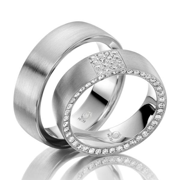 Eheringe - Design - mit Diamanten - RU-1036-1-0