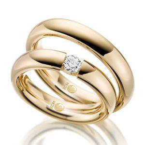Eheringe - Design - mit Diamant - RU-1053-1-0