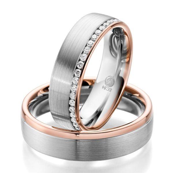 Eheringe - Design - mit Diamanten - RU-1058-1-0