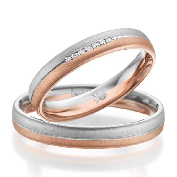 Eheringe - Design - mit Diamanten - RU-1086-1-0
