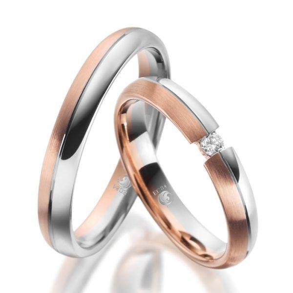 Eheringe - Design - mit Diamant - RU-1087-1-0