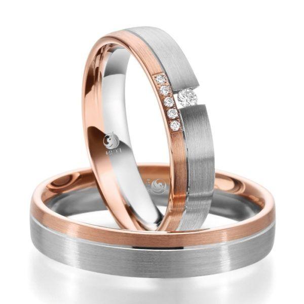 Eheringe - Design - mit Diamanten - RU-1088-1-0
