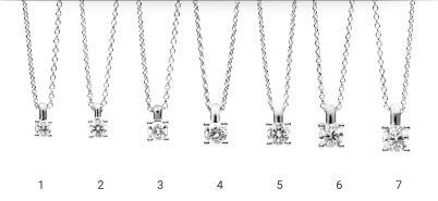 Collier 42cm mit Diamant - Weißgold - 4-Krappenfassung - Elegant-0