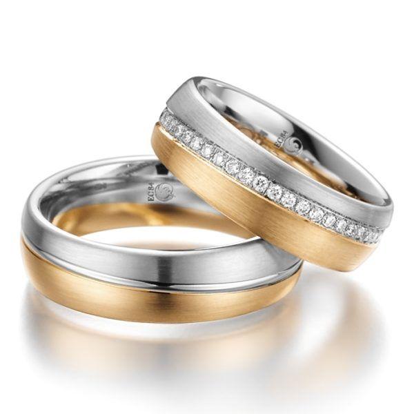 Eheringe - Design - mit Diamanten - RU-1013-1-0