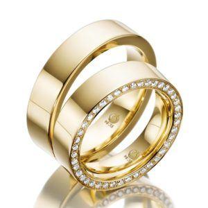 Eheringe - Design - mit Diamanten - RU-1014-1-0