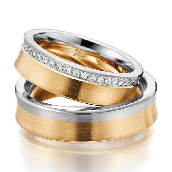 Eheringe - Design - mit Diamanten - RU-1020-1-0