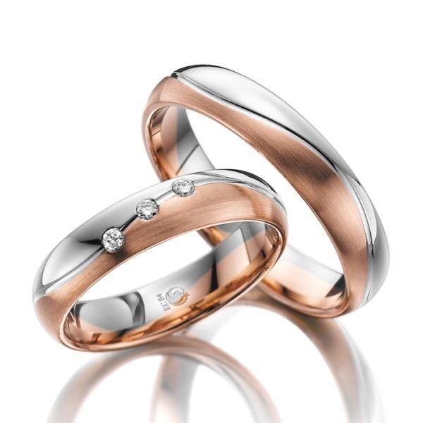 Eheringe - Design - mit Diamanten - RU-1022-1-0